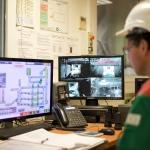 Supervision / salle de contrôle Tri'sac - alcea (centre de traitement et de valorisation des déchets ménagers de Nantes Métropole) - Nantes - 22/07/2014