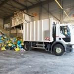 Hall de déchargement Tri'sac - alcea (centre de traitement et de valorisation des déchets ménagers de Nantes Métropole) - Nantes - 22/07/2014