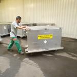 Hall Dasri (déchets d'activité de soins à risques infectueux) - alcea (centre de traitement et de valorisation des déchets ménagers de Nantes Métropole) - Nantes - 22/07/2014