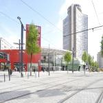 La Tour de l'Europe & le centre commercial de la porte jeune - Mulhouse