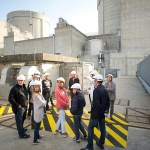 Captation des eaux de la Gironde et en arrière plan les enceintes de confinement des tranche 1 & 2 du Centre Nucléaire de Production d'Electricité du Blayais (CNPE)
